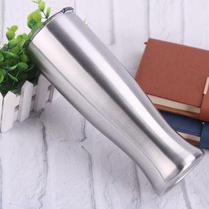 Pilsner a forma di tazza in acciaio inox acciaio inox occhiali in acciaio inox doppio strato vaso tumbler all'aperto campeggio bere caffè caffè beer tazza 30oz lxl577dxp