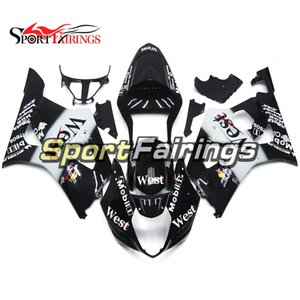 Complete Sport Motorcycle Fairings Kit For Suzuki GSXR1000 2003 2004 GSX-R1000 K3 03 04 Injection ABS Plastic Bodywork White Black Covers