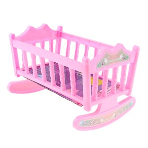 Baby Doll Rocking Cradle Bed - Fits 20cm Baby Doll Reborn-Puppen - Inklusive Matratze Bettwäsche, Kinder Indoor Outdoor Spielset