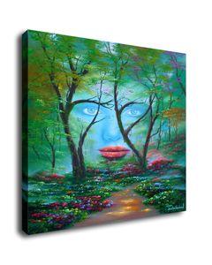 Jim Warren Abstract Art Natures Augen, Ölgemälde-Qualitäts-Kunstdruck auf Leinwand Modern Home-Kunst-Dekor