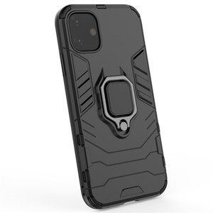 갑옷 전화 케이스 커버 보호 손가락 반지는 아이폰 (11) 프로 맥스 스탠드 보이지 않는 스탠드 링으로 슬림 폰 케이스 백 커버 스탠드