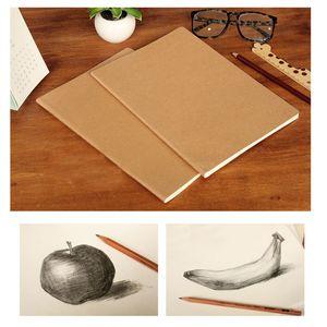 Kraft Cover Journal Notebooks de papel de couro Notebook Blank Blank Blank Livro Vintage Soft Copybook Os memorandos Daily podem ser personalizados