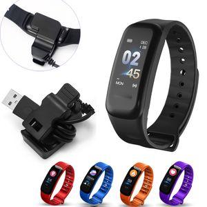 C1Plus Smart-Armband-Blutdruck Fitness C1 Plus-Smart-Armband Sport Smartband Herzfrequenzmesser Armband