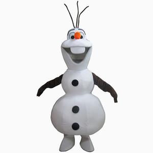 Yetişkin Yeni Gülen Maskot Kostüm Kardan Adam Giyim Karikatür Karakter Kostüm