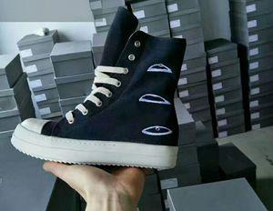 Designer-h Original-TPU Fragrant Sohle Erdeton Vegan hoch oben echten Canvas-Sneaker Trainer Stiefel