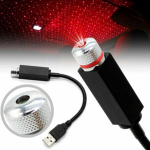Mini LED Car Roof Estrelas Night Lights Projector Luz Interior Ambient Atmosfera Lâmpada Decoração Luz USB plug