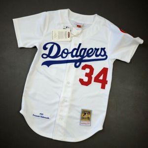 Cheap 100% Stitched Fernando Valenzuela Mitchell Ness 1981 Dodgers Jersey Size XS-5XL Top Basketball jerseys