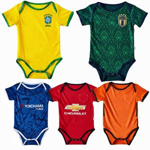 New Real Madrid ajax Italy Spain Brazil Netherlands Summer Baby Rompers Newborn Baby Boy Girl Romper Jumpsuit Clothes Baby Outfits 0-18M