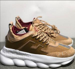 2020 Nueva CadenaZapatos de lujo diseñador mujeres de los hombres zapatillas de Snow Leopard Negro Blanco Moda Casual ShoesBotas de reacción Zapatos