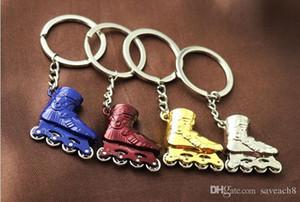 مصغرة أحذية تزلج نموذج سلسلة المفاتيح - الأسطوانة الزلاجات الحلي المرأة حقيبة سحر قلادة سيارة مفتاح سلسلة حلقة حامل كيرينغ الرياضة هدية