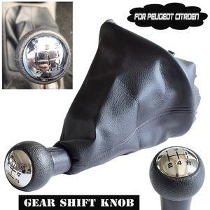 Handbuch Auto 5 Geschwindigkeit Gang-Stick Schalthebel HeadBall Gamasche Boot-für Peugeot 206 306 307 308 3008 für Citroen C2 C4 Picasso