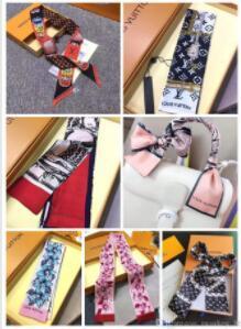Top estilo diseñador de la marca de cinta de seda de alta calidad super suave multifuncional pañuelo en la cabeza de la moda, la pajarita, correa del bolso D002