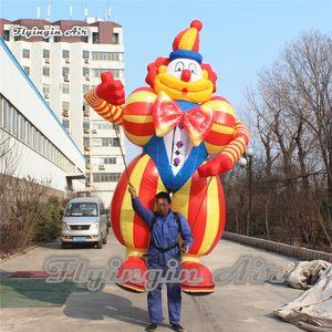 Circo Parade puntelli di prestazione 3.5m divertente camminare gonfiabile del costume del pagliaccio Colpo Suits Fino Joker Puppet per eventi all'aperto
