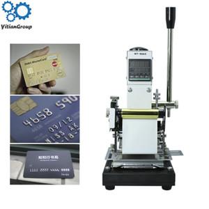 100x150mm 220V / 110V Manual de cuero de la insignia tarjetas de PVC en relieve estampado en caliente de la máquina prensa del calor de la máquina Punzonadora