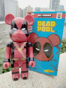 Novas 400% Deadpool Bearbrick Violent Urso Handmade Modelo Desktop brinquedos Decorações dos presentes do Natal de aniversário HD21