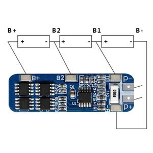 Smart Electronics 3S 12V 18650 10A BMS Cargador Li-ion Batería de litio Placa de circuito Placa de circuito 10.8V 11.1V 12.6V