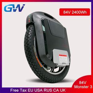 Gotway 3 22inch Electric Моноцикл 100V 1300WH / 2400WH 2500W двигатель сажу Bluetooth Speaker