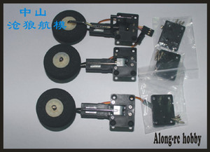 free shipping 25g retractable landing gear servo with EVA wheel for RC hobby plane model airplane RC model spare part