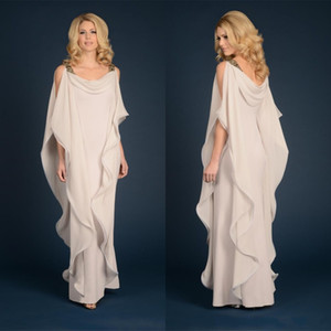 Kleider der Mutter Kleider der Mutter der Braut mit einer Linie Chiffon- Hochzeitsfest-Gast plus Größen-Spitze in voller Länge fließender Mantel
