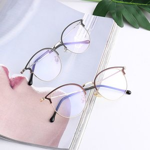 Frauen-blaues Licht Blocking Computer-Brille Cat Eye Anti Blue Rays Brille Weibliche Plain Spiegel-Glas-Rahmen Brillen