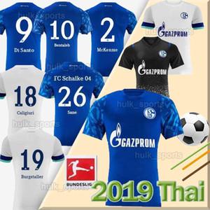 19 20 FC Schalke 04 Футбольная майка BENTALEB 2019 2020 Schalke CALIGIURI футбольная рубашка KUTUCU BURGSTALLER McKENNIE Fußball-Trikot