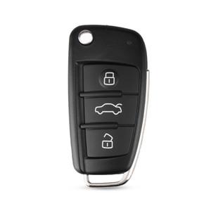 calidad normal KL84-1 Nueva 3 botones llave plegable remoto caso de Shell para Audi A2 A3 A4 A6 A8 TT A6L