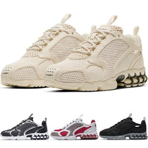 2020 New Zoom Spiridon Caged Style Canvas Men Women Fosssil Stussy Pure Platinum AirZoom Running Shoes Varsity Red Fashion Trainers Sneakers