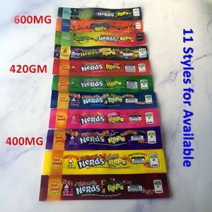 Nuova 400 MG 420 mg 600mg medicati Nerds Rope COSA-un melone così CHERRY Nerds borse Corda Packaging Nerds borsa corda Candy Nerdsrope Gummy