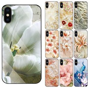 caso de mármol alivio para OPPO A33 A37 A39 A57 A59 A71 A73 A77 A79 A83 F3 F5 F9 F11 casos pavo real / Lotus / pavo real / Lotus / Jasmine / lirio / flor del ciruelo