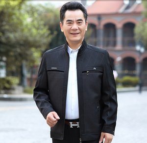 Dad's coat Clothes jacket middle-aged and elderly autumn casual thin jacket 40 clothes 50-year-old middle-aged men's wear