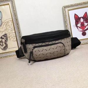 النمط الكلاسيكي مصغرة الرجال والنساء الخصر حقائب جلد طبيعي حقيبة المرأة فاني حزمة المطبوعة مصمم waistpacks للرجال 450946