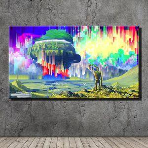 Castle In The Sky, Pintura em tela HD Printing New Home Decoração Arte / Unframed / Framed