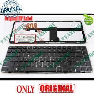 Novo teclado de notebook para HP Pavilion DM4-1000 DV5-2000 retroiluminado preto com moldura US - NSK-HT1BV.