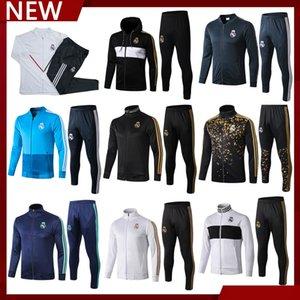 2021 Real Madrid Herren Sportswear, 20/21 19/20 Voll Zipper Langarm Fußball Sportswear Set, Jacke Jacke Fußball-Training Wear