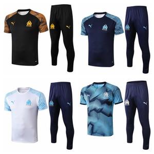 19 20 новый Марсель футболка спортивные костюмы 2020 THAUVIN футбольные костюмы PAYET OM Марсель с коротким рукавом брюки досуг рубашки поло тренировочный костюм
