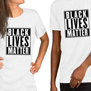 Summer Printed BLACK LIVES MATTER Casual Cotton Short Sleeved T-shirt Tops for Men Women Unisex Tee