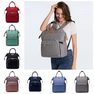 기저귀 배낭 가방 브랜드 엄마 기저귀 가방 엄마 아기 다기능 기저귀 가방 방수 야외 간호 가방 여행 배낭 8 컬러 DW4483
