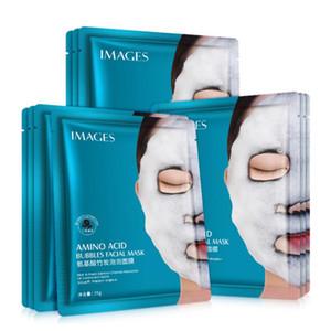 Soin de la peau coréenne humidité masque moussant visage Masque facial acide aminé 25g Whitening profonde purifiant Charbon