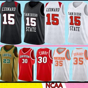 San Diego State Aztecs College Kawhi 15 Leonard Jersey NCAA 30 Curry 35 Durant 23 James LeBron Basketball Jerseys