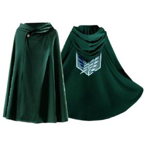 Disfraces de Halloween Cosplay del ataque a los trajes de Titán Shingeki Kyojin Scouting dibujos animados Allen animado cosplay unisex verde Legión Capa S-L