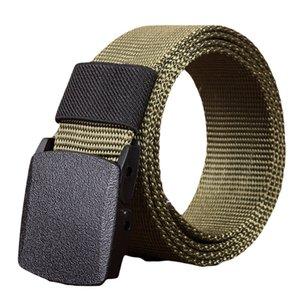I fan cinghia dell'uomo di modo delle donne di nylon automatico Fibbia militari Tactical Belt Tela Solide colori Cinture durevoli Unisex Y20