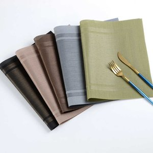6 PCS Anti-skid And Heat-insulation PVC Placemat For Dining Table Non-slip Table Mat Kitchen Accessories T200702
