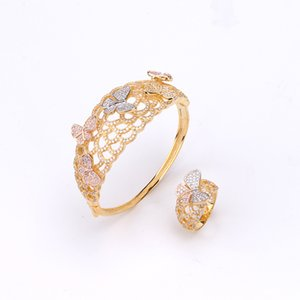 Iced Out Sparking Bling Bling Silver Clear CZ Fashion Jewelry Butterfly Charm Bracelet Women Rings