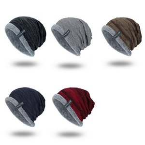 Fleece And Warm Ab Gauze Hook For Men's Outdoor Cap Knit Cap Hedging Head Hat Beanie Cap Warm Outdoor Sport Hat