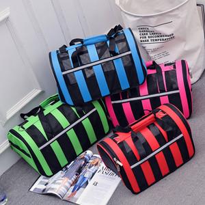 34 * 24 * 24cm Bolsa de transporte para mascotas para perros 600D Bolsa de transporte portátil para perros transpirable para perros pequeños Viajes de verano Bolsa de transporte para gatos fuerte al aire libre