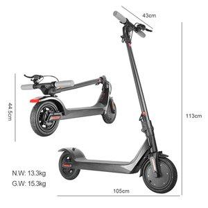 Caliente MK042 Scooter eléctrico 350W / 36V 8.5inch plegable scooters 2 Ruedas máximo de carga 120KG neumático sólido para adultos de escritorio digital inteligente APP
