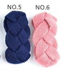 lumière rose mazarine élastique à tricoter bande de cheveux à la main de laine fil bandeau accessoires pour chaud automne et d'hiver Cheveux Bandes