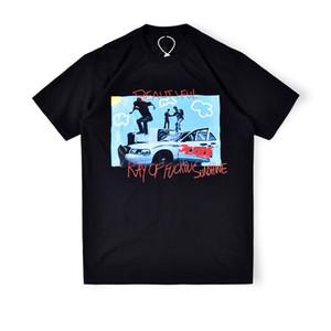 2020 Инс горячая Весна Лето американский Трэвис Скотт JACKBOYS рэп ЧАСТЬ3 тройник тройник скейтборд мужские дизайнерские футболки женщины улица свободного покроя футболка