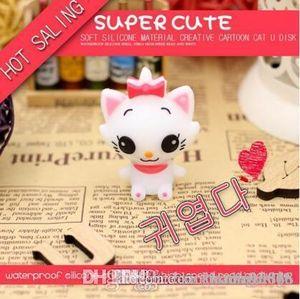 HK Cute Cartoon Cat USB Flash Drive Memory Stick Pendrive USB Stick Pen Drive 64GB 32GB 16GB 8GB 4GB Flash Card