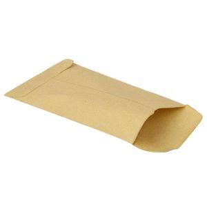 Bolsa de papel Kraft Bolsas de regalo Bolsas de dulces para galletas Paquete de horneado de refrigerios Suministros Envoltura de regalo de sobre